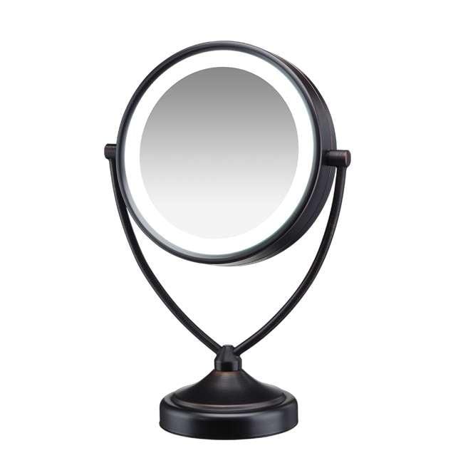 BE122BRAM Conair Illuminations BE122BRAM 1X/10X Fluorescent Vanity Mirror, Oiled Bronze 1