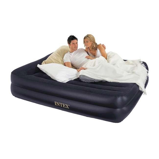 3 x 64123EP-U-A Intex Pillow Rest Raised Air Mattress w/ Built In Pump, Queen (Open Box)(3 Pack) 7