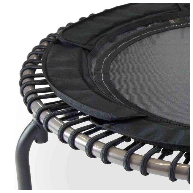 RBJ-S-20751-00 JumpSport 370 PRO Indoor Lightweight 39-Inch Folding Fitness Trampoline, Black 1