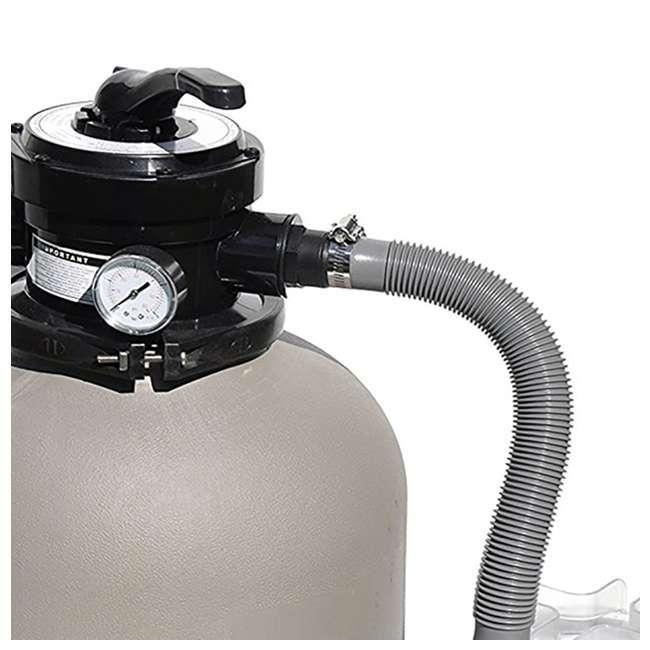 "71405-U-A Swimline 2400 GPH 14"" .5 HP High-Quality Pool Sand Filter Pump Combo (Open Box) 2"