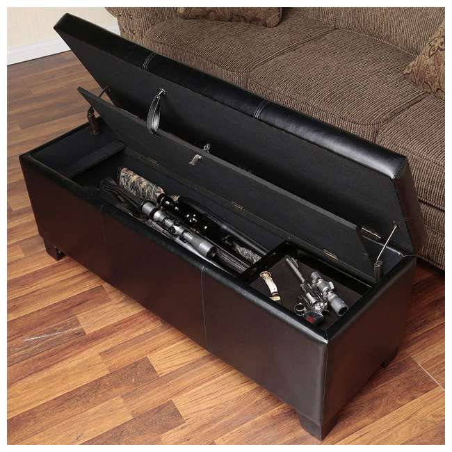 American Furniture Classics 502 Concealment Firearm Bench Storage Brown