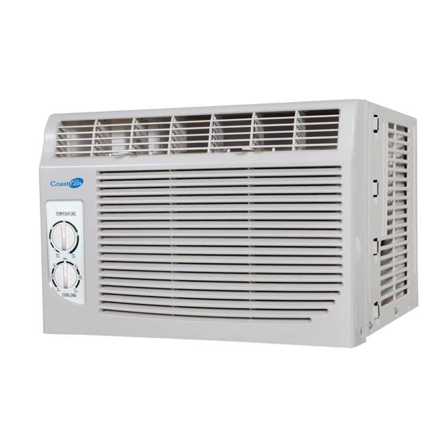 CMW051B Coast Air CMW051B 5000 BTUs Compact Window Mount Air Conditioner Unit, White