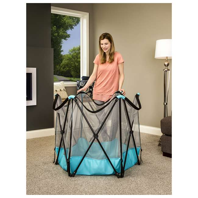 1375 DS Regalo 6 Panel My Play Deluxe Portable Foldable Play Yard with Canopy (Used) 6