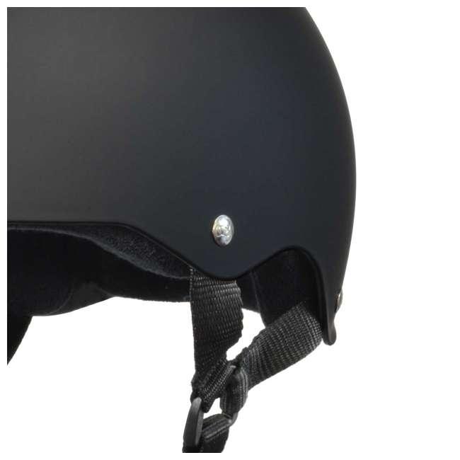 T8-1351-U-B Triple 8 Hardened Skate Helmet w/ Sweatsaver Liner, Black Rubber - Small (Used) 4