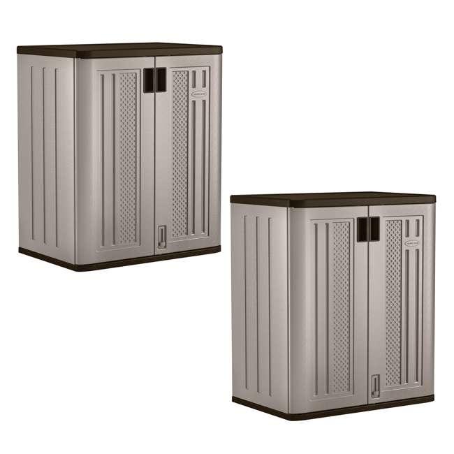 BMC3600 Suncast Garage Base Storage Cabinet, Platinum (2 Pack)