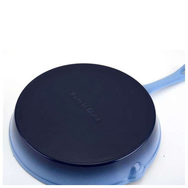 AI23790 + HAR109 Hamilton Beach Silicone Pot Holder Mitts + 8-Inch Enameled Cast Iron Frying Pan 7