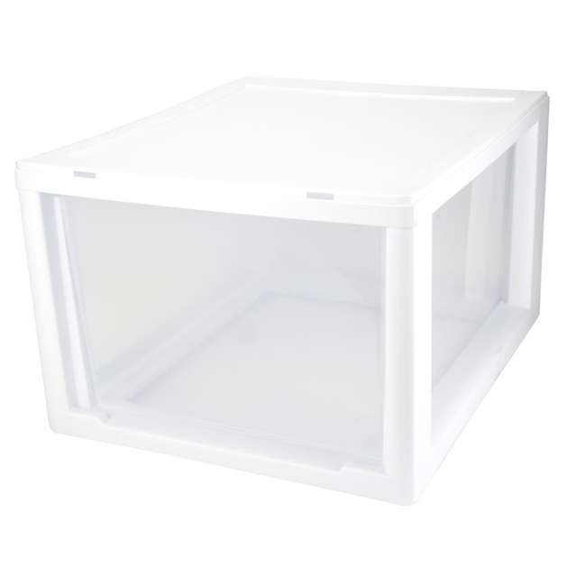 32 x 23108004 Sterilite 2310 27-Quart Single Stacking Drawer - Clear (32 Pack) 4