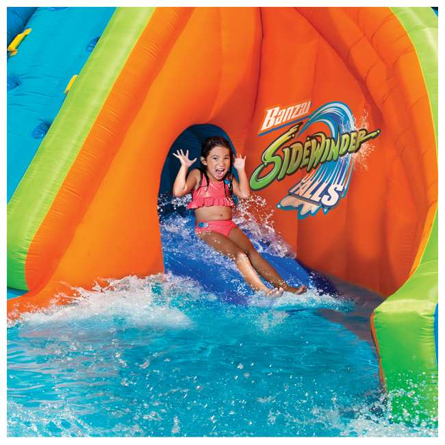 6 x 23524 Banzai Sidewinder Falls Inflatable Water Park Pool (Open Box) (6 Pack) 2