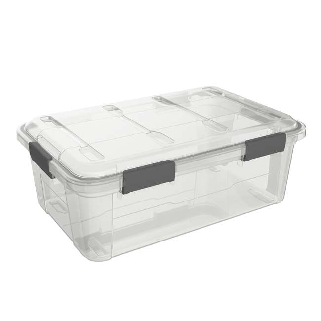 FBA32226 Ezy Storage Weather Proof IP65 32 Liter Plastic Storage Container Bin Box w/ Lid