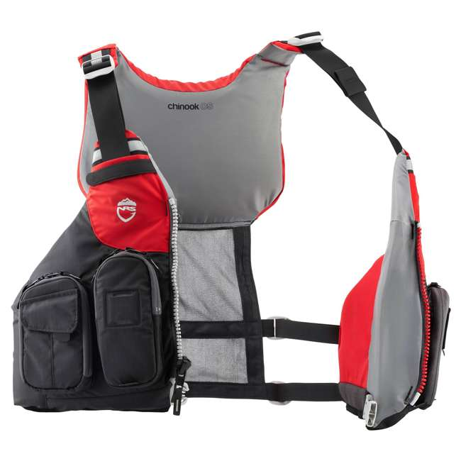 40071.01.101 NRS Chinook OS Type III Fishing Life Vest PFD with Pockets, X Small/Medium, Red 2