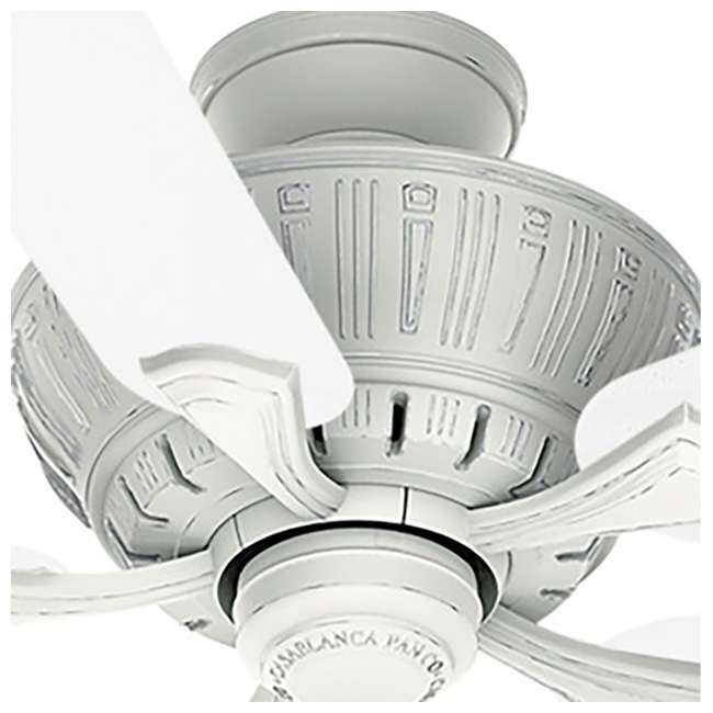 55062 Casablanca Coletti 54 Inch Indoor Cottage Style White Ceiling Fan with Downrods 3