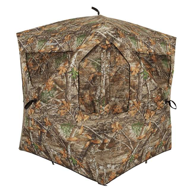 AMEBL3013 Ameristep AMEBL3013 3 Person Brickhouse Ground Hunting Blind, Mossy Oak Camo 1