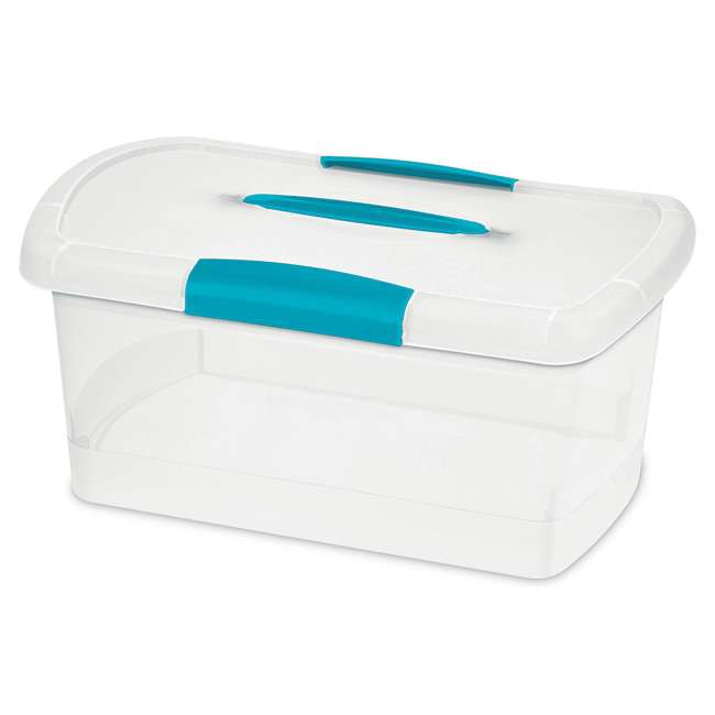 60 x 18748606 Sterilite Medium Nesting ShowOffs Clear File Box w/ Latches (60 Pack) 1