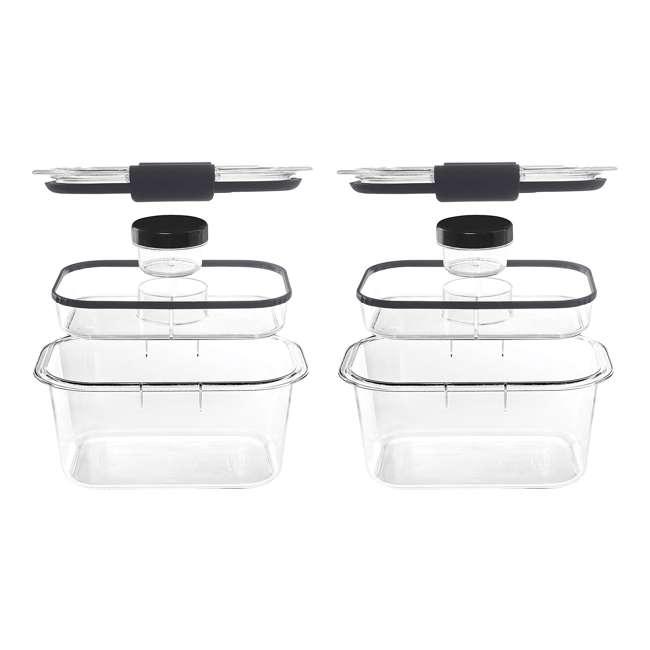 2027420 Rubbermaid Brilliance Medium Deep 4.7 Cup Food Salad Storage Container (2 Pack)