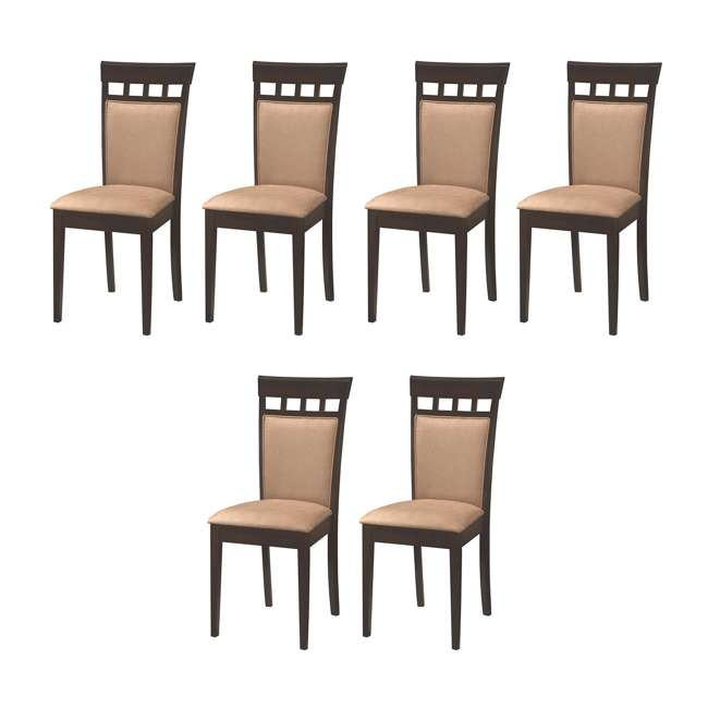 3 x 100773ii-PAIR Coaster Home Furnishings Gabriel Wheat Back Side Dining Room Chairs (6 Pack)