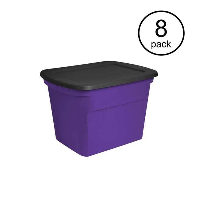 8 x 17310308 Sterilite 18-Gallon Storage Bin with Lid, 8-Count