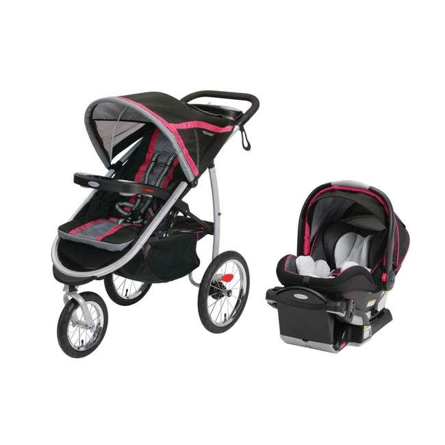 graco fastaction fold jogging stroller snugride 40 car seat azalea 1907178 1914593. Black Bedroom Furniture Sets. Home Design Ideas