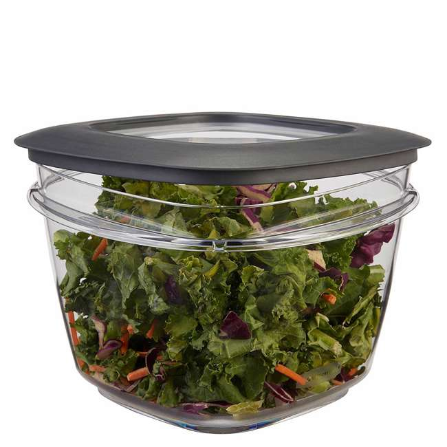 4 x 1951296 Rubbermaid Premier Easy Find Lids Clear Plastic Food Storage Containers (4 Pack) 2