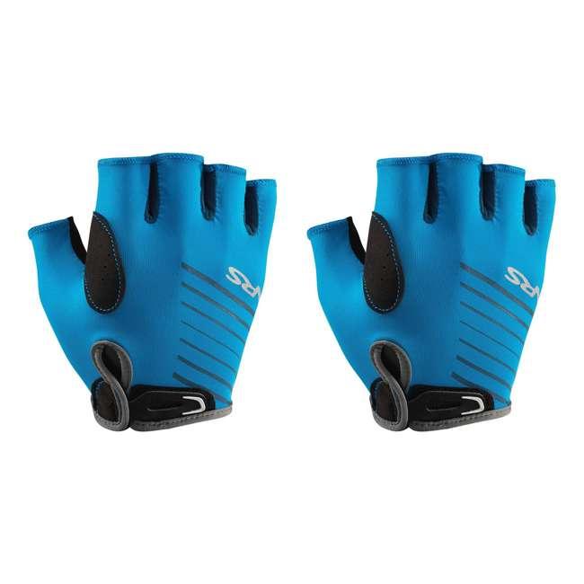 NRS_25005_05_100 NRS Men's Half-Finger Marine Blue Paddling & Rowing Boater's Gloves, XS (2 Pack)