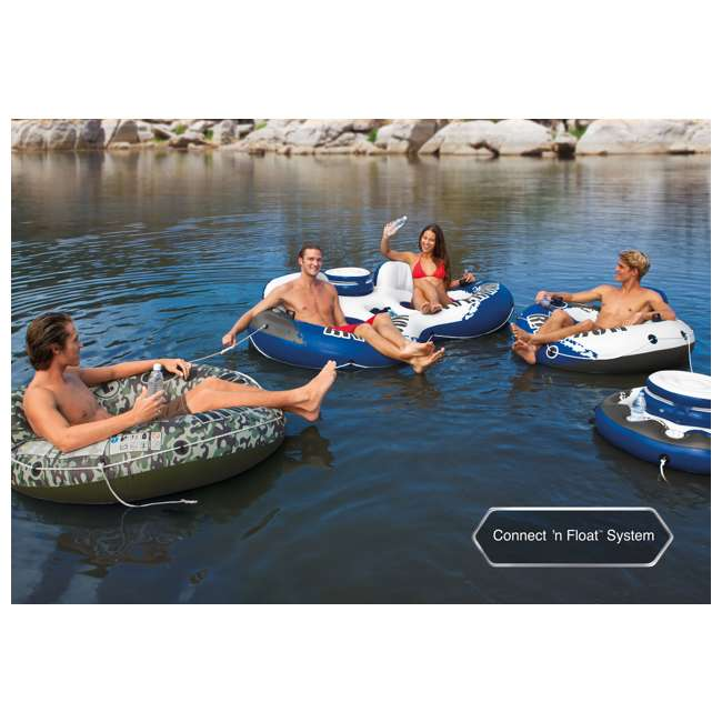 "6 x 56825EP-U-A Intex River Run 1 53"" Water Tube Lake Pool Ocean Raft, Red  (Open Box) (6 Pack) 5"