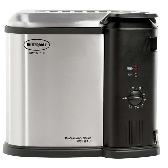 BB-MB23012418 Masterbuilt Butterball XL Electric Turkey Fryer, Stainless Steel