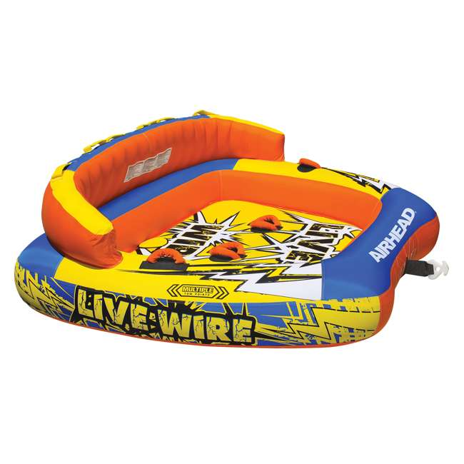 AHLW-3-U-A AIRHEAD Live Wire 3 Inflatable 1-3 Rider Boat Towable Lake Water Tube (Open Box)