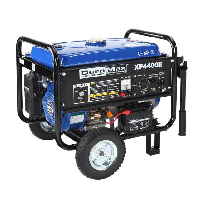 XP4400E + XPSGC DuroMax 4400 Watt RV Grade Gas Generator & Generator Cover, Black 3
