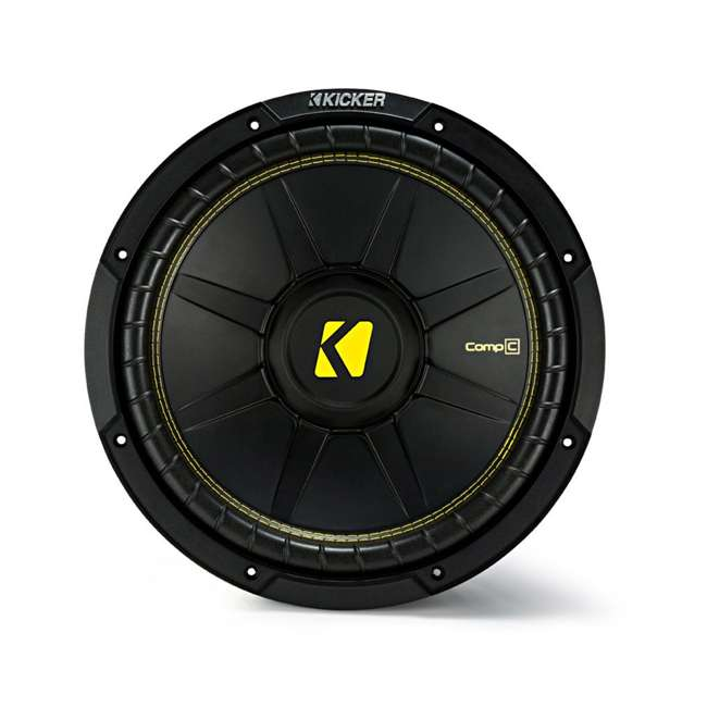 QDODGE124DOOR + 2 x44CWCS124+R1100M+4GAMPKIT-SFLEX 2 Kicker 12-Inch 600W Subwoofers w/ Dodge Ram Quad Cab '02- 12-Inch Box with Amp with Wiring (Pair) 8