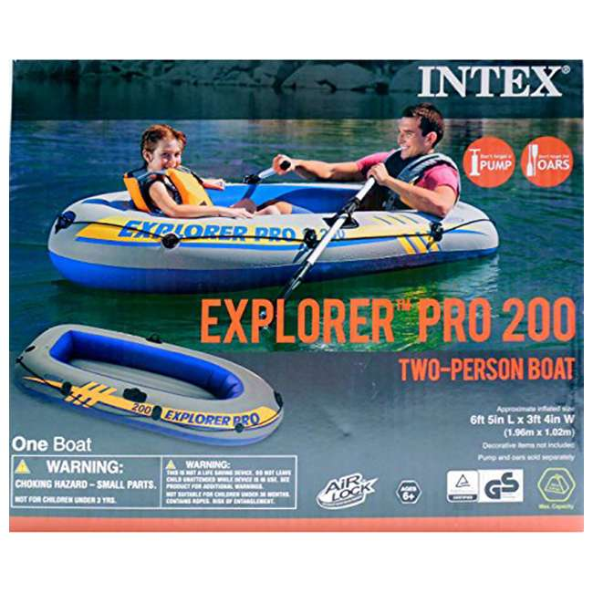 58356WL-U-A Intex Explorer Pro Youth Boat Raft (Oars/Pump Not Included)(Open Box) (2 Pack) 3