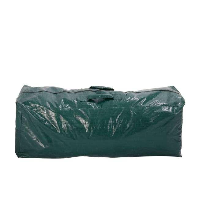 GX0911575033 Home Heritage 57.5 x 15.5 x 21.5 Inch Plastic Christmas Tree Storage Bag, Green 2