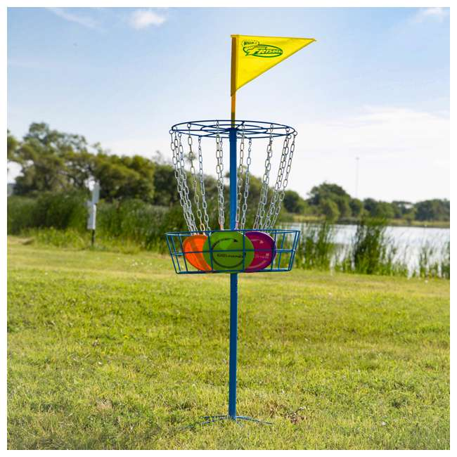 53311 Wham-O PDGA Official Frisbee Disc Golf Set with 3 Discs and Blue Target (Used) 4