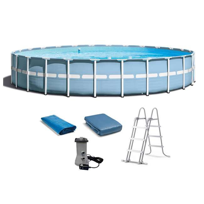 Intex 24 feet x 52 inches prism frame swimming pool set 26761eh - Intex prism frame ...