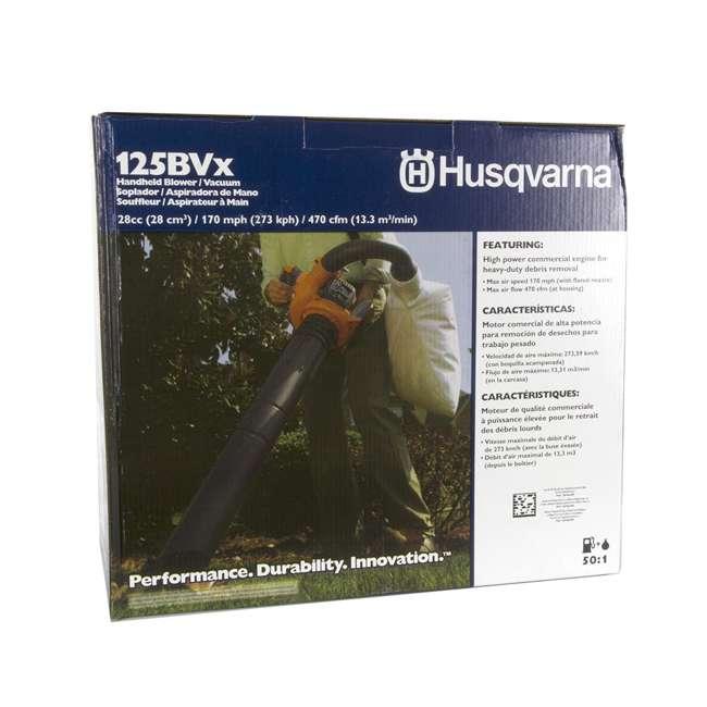 HV-BL-952711902-U-B Husqvarna 125BVx 28cc 2 Cycle Gas Powered 170 MPH Lawn Blower Vacuum (Used) 8
