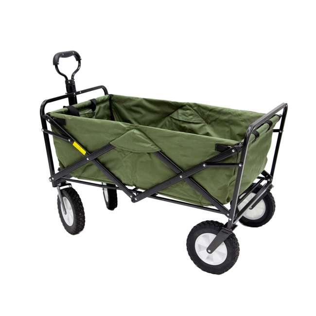 MAC-WTC-124-GREEN-U-A Mac Sports Collapsible Steel Frame Garden Utility Wagon, Green(Open Box)(2 Pack) 1