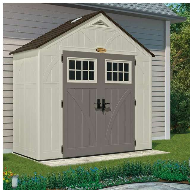 BMS8400D Suncast  8' x 4' Outdoor Patio and Garden Storage Shed 1
