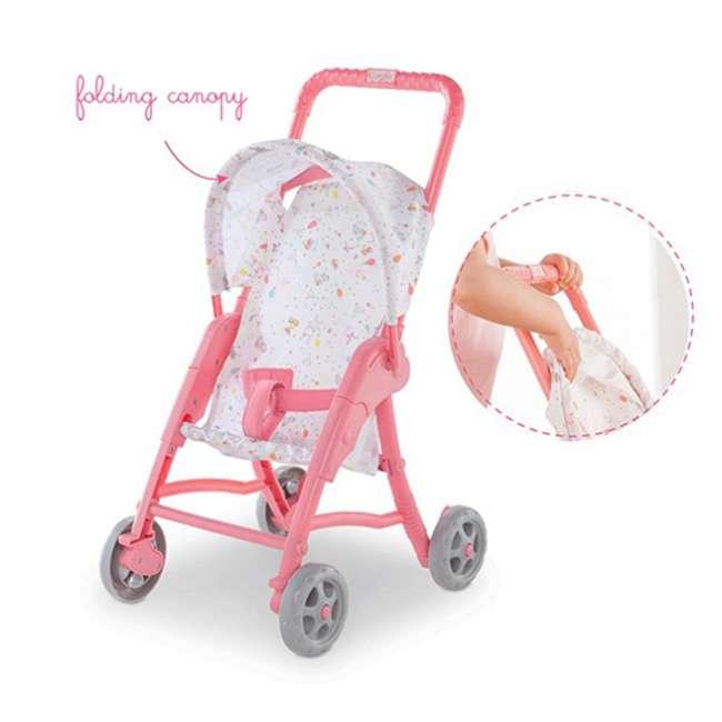 100130 + FRN90 Corolle Mon Premier Baby Bath Waterproof Coralie Doll with Duck & Toy Stroller 6