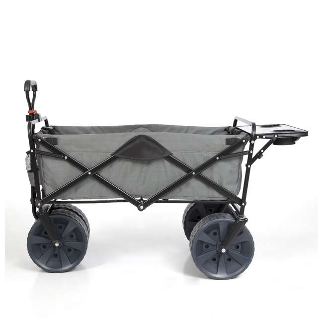 MAC-WTCB-112-GREY-TABLE-U-A Mac Sports Collapsible Heavy Duty All Terrain Utility Wagon w/ Table (Open Box) 1