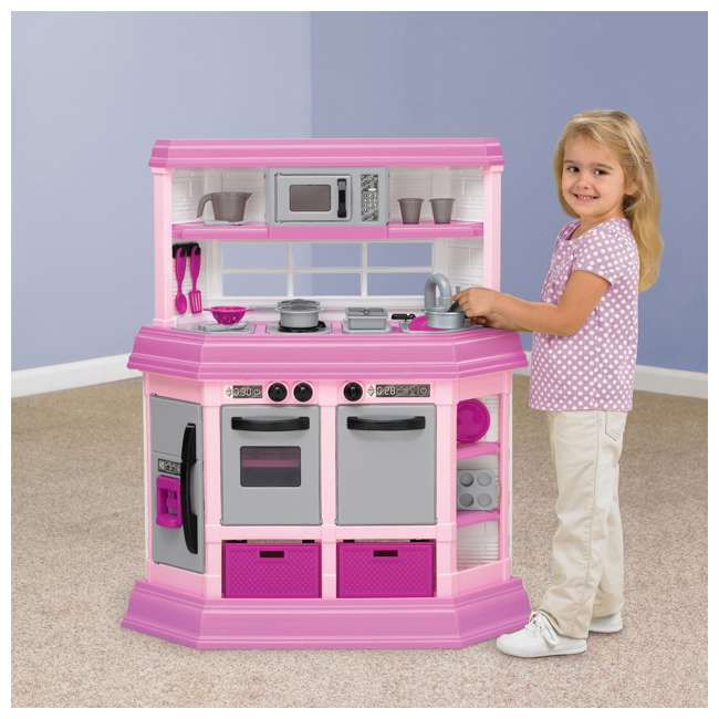 APT-11950 American Plastic Toys Kids Pink First Very Own Custom Kitchen Role Play Toy Set  1
