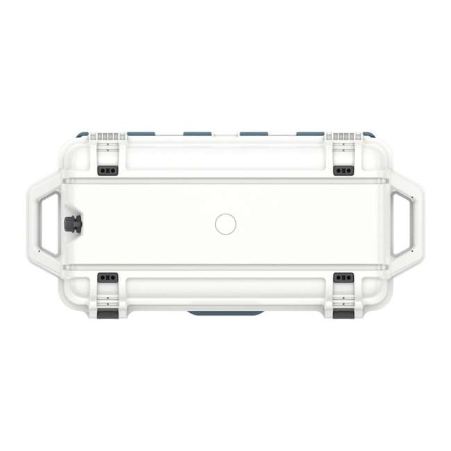 77-54868 Otterbox Venture Heavy Duty Outdoor Camping Fishing Cooler 65-Quarts, White/Blue 8