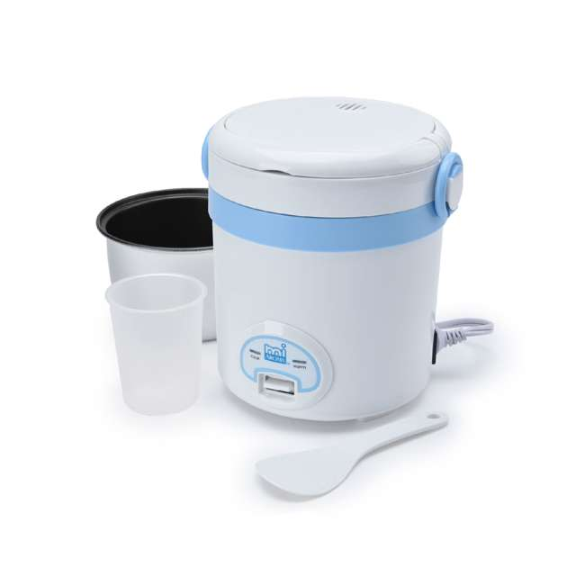 MRC-903BL Aroma miAroma Mini Digital 3-Cup Rice Cooker, Blue (2 Pack) 2