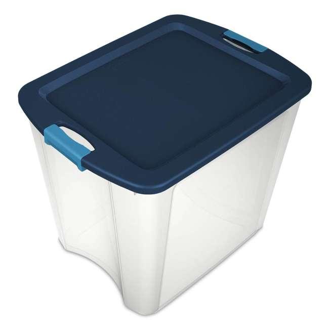 4 x 14489604-U-A 4 Pack Sterilite 26 Gallon Latch & Carry Storage Tote Box Containers (Open Box) 8