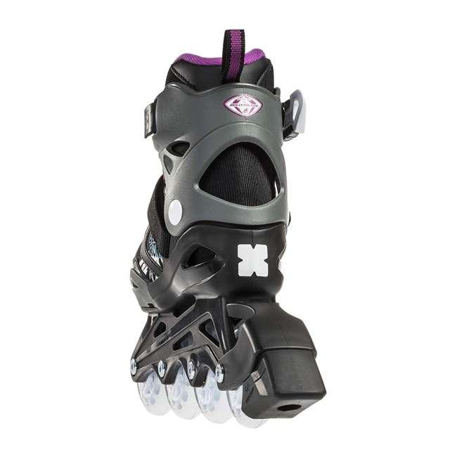 0T612300N41-11-1 Rollerblade Bladerunner Phoenix Girls Adjustable Skates, 11 thru 1, Black/Purple 1