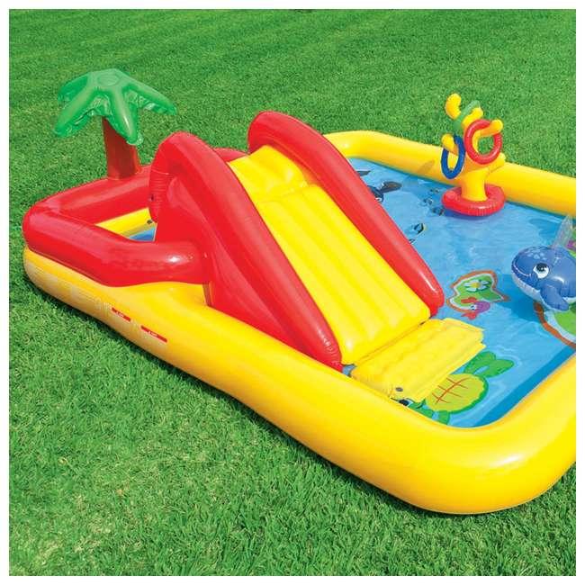 57454EP + 57453EP Intex Inflatable Ocean Kiddie Pool (2 Pack) & Intex Rainbow Ring Pool (2 Pack) 6
