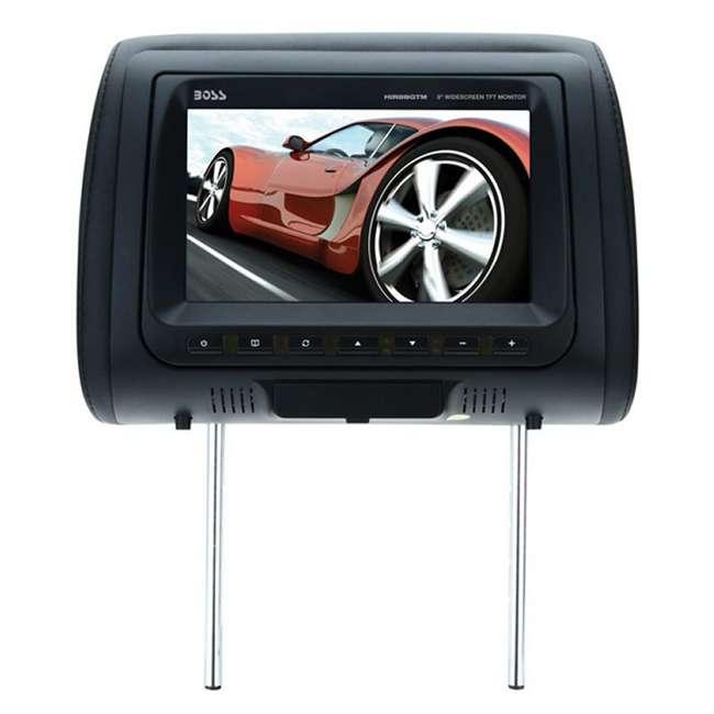 HIR8BGTM Boss Audio HIR8BGTM 8-Inch Tft Headrests Video Monitors with Black/Tan/Gray Skins (Pair) 2