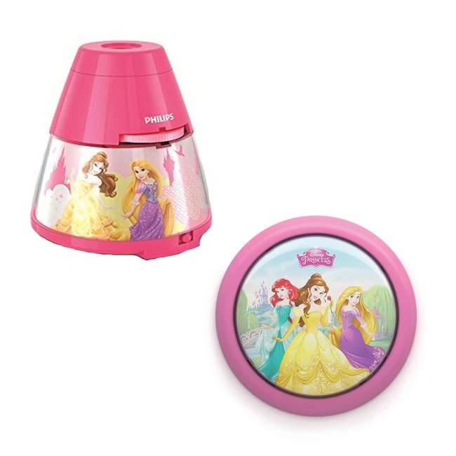 PLC-717692848 + PLC-7192428U0 Philips Disney Princess LED Nightlight with Projector and Push Touch Nightlight