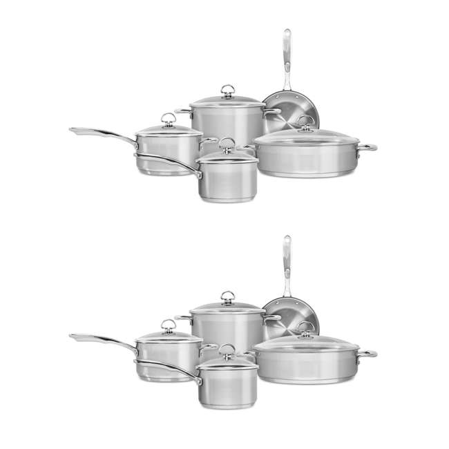 SLIN-9 Chantal Induction 21 Steel Cookware Set, 9-Piece (2 Pack)