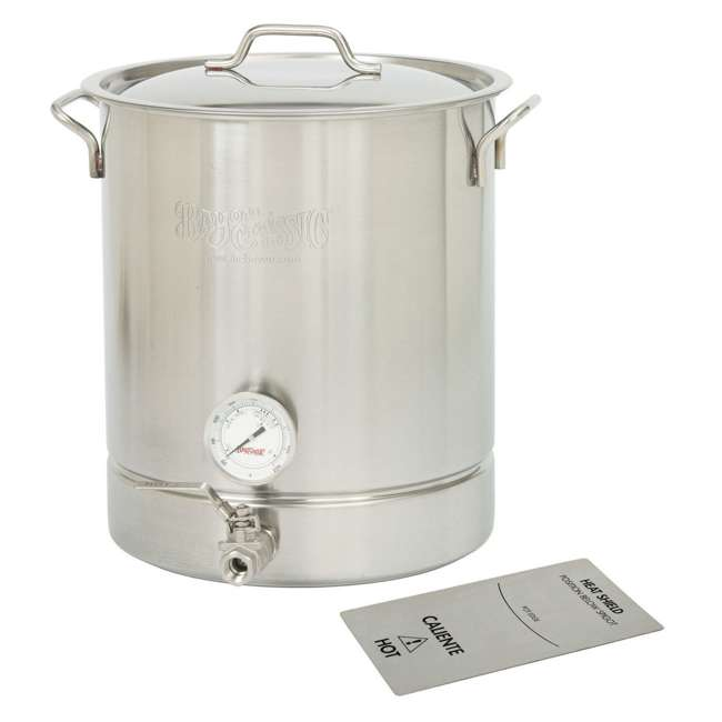 800-440 Bayou Classic 800-440 10 Gallon Stainless Steel 4 Piece At Home Brew Pot Kit