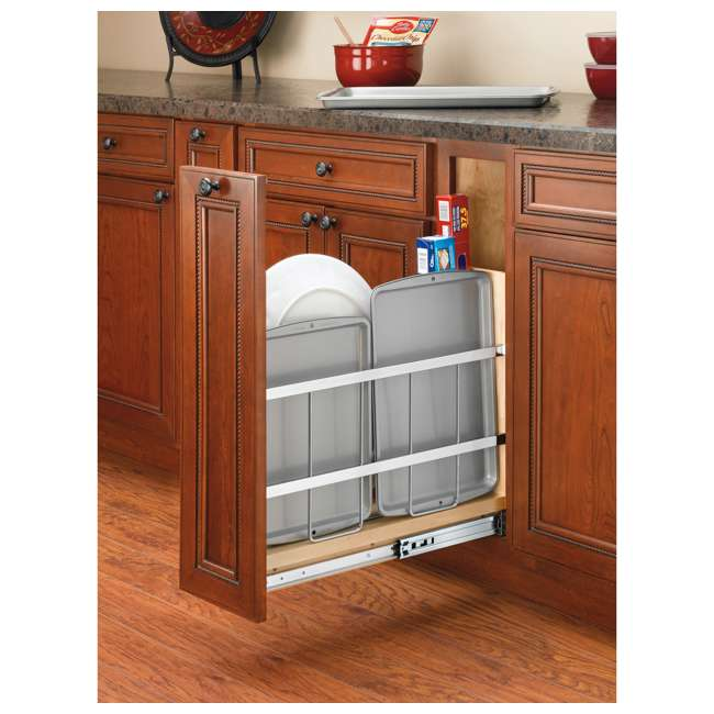 447-BCBBSC-8C Rev-A-Shelf 447-BCBBSC-8C 8 Inch Kitchen Pull Out Tray Divider Cabinet Organizer 1