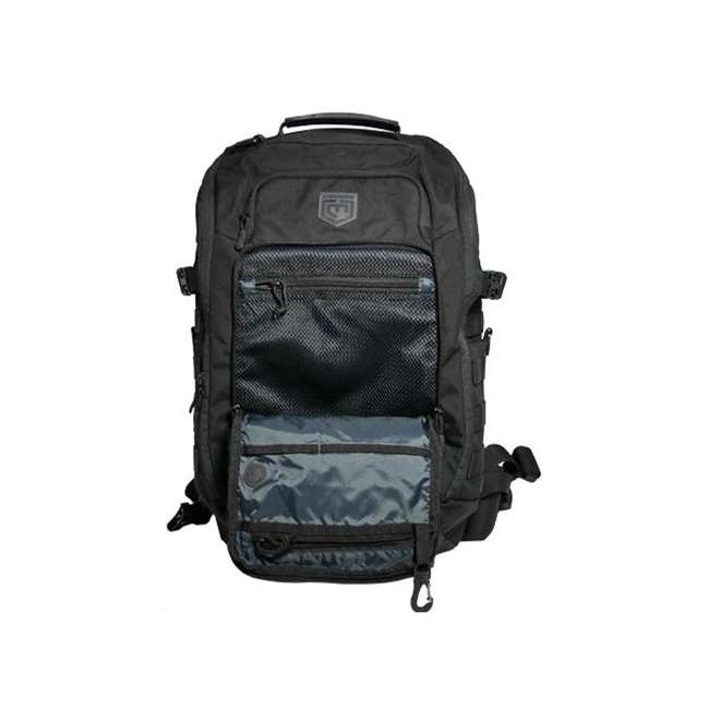 CPG-BP-LEG-M-B Cannae Pro Gear Nylon Medium 21L Legion Day Pack Backpack, Black 3