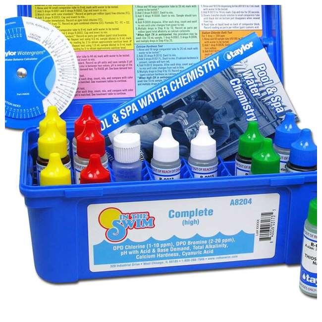 K2005 Taylor Swimming Pool Chlorine Bromine Alkalinity Hardness pH DP Test Kit (2) 5